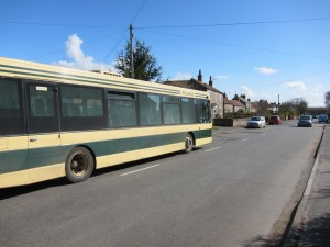 Number 40 bus in Huby