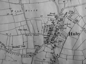 Old Map of Huby, Hambleton